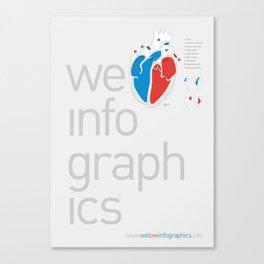 We Love Infographics Canvas Print