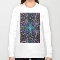 sci fi Long Sleeve T-shirts featuring Sci Fi Metallic Shell by Phil Perkins