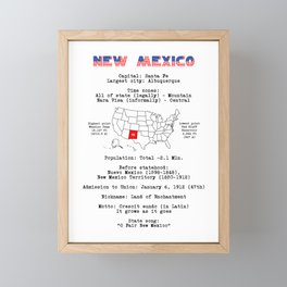New Mexico Framed Mini Art Print