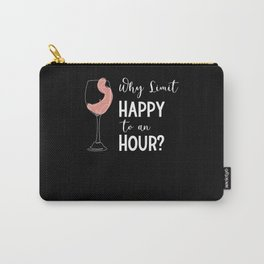 Bartender Wine Drinker Wine Bar Wine Glass Line Carry-All Pouch