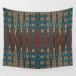 South Western Color Palette Mosaic Pattern Wall Tapestry
