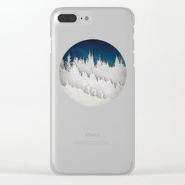 A Snowy Hike Clear iPhone Case