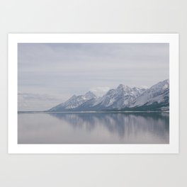 Water and Mountains  Art Print