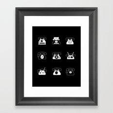 Fifties' Smartphones Black Framed Art Print