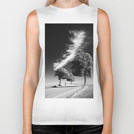 Cloud trees man Biker Tank