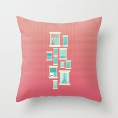 Bricks & Windows Throw Pillow