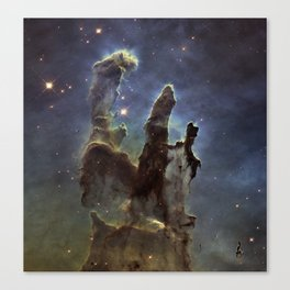 Pillars of Heaven - Galaxy Canvas Print
