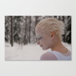Being in white Canvas Print