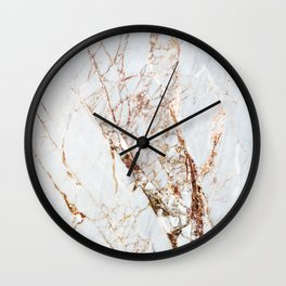Gold Grey and White Sparkle Marble Wall Clock