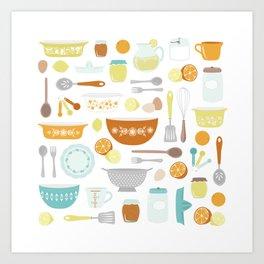 Citrus Kitchen Art Print