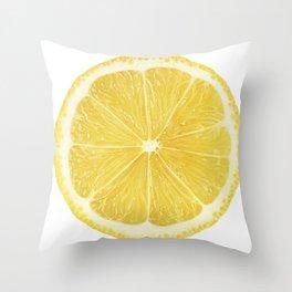 Slice of lemon Throw Pillow