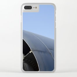 B52 B-52 Stratofortress Bomber Airplane/Aircraft USAF Clear iPhone Case