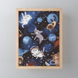 Cat Space Framed Mini Art Print