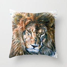 Lion Wild and Free Throw Pillow