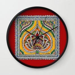Lotus on Paan Wall Clock