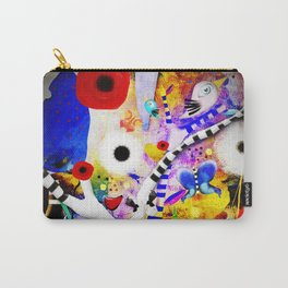 Since you are here - Striped Tree Black and white - Rainbow Abstract Art Carry-All Pouch