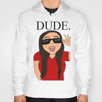 the dude Hoodies featuring DUDE. by Citizen Pulp