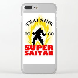 Training to go SUPER SAIYAN Clear iPhone Case