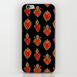 Sacred hearts pattern iPhone Skin