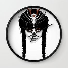 Wakeful Warrior - In Red Wall Clock