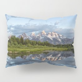 Light Touching the Grand Tetons Pillow Sham