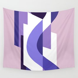 SUISSE - Art Deco Modern: PASSION FOR PURPLE Wall Tapestry