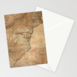 Vintage United States Map (1806) Stationery Cards