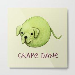 Grape Dane Metal Print