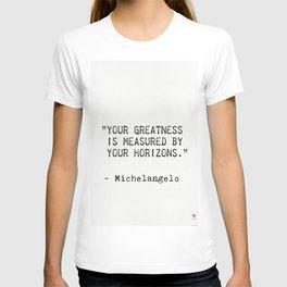 Michelangelo quote 5 T-shirt
