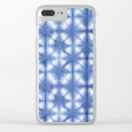 Shibori Itajime Clear iPhone Case