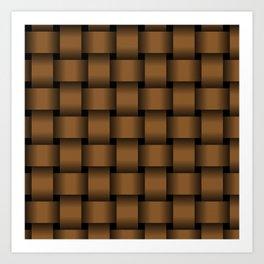 Large Brown Weave Art Print