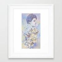 virgo Framed Art Prints featuring Virgo by Csangal