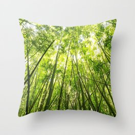 Maui Bamboo Forest Throw Pillow