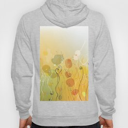 Floral Abstract Line Art Print Design Hoody