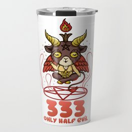 333 Half Evil - cute anime kawaii Baphomet T-Shirt Travel Mug