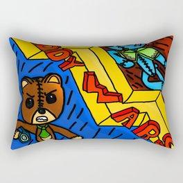 Teddy wars Rectangular Pillow