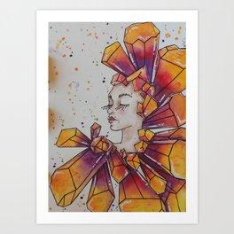 Geode Goddess Art Print