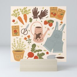 Gardening Things Mini Art Print