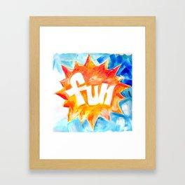 Fun in the Sun Framed Art Print