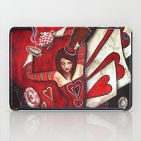 mad hatter iPad Cases featuring The Mad Hatter by Megan Mars