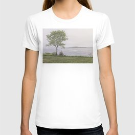 Lone tree by the sea T-shirt