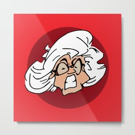 Mamma Antes Angry Face Metal Print