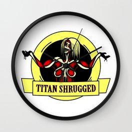 Titan Shrugged Wall Clock