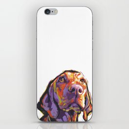 Vizsla Dog Portrait bright colorful fun Pop Art by LEA iPhone Skin