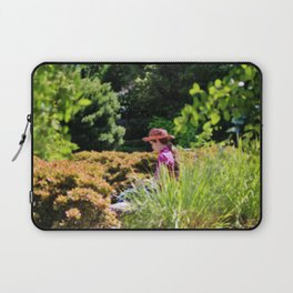 Lady In The Garden Laptop Sleeve