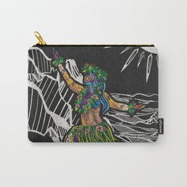 Polynesian Hula Dancer Tapa Print Carry-All Pouch