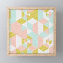 Lovely Abstract Geometric Pattern Framed Mini Art Print
