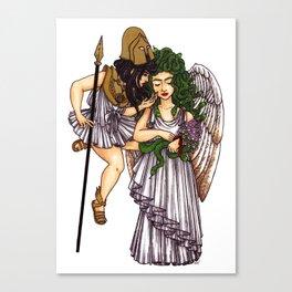 Athena and Medusa Canvas Print