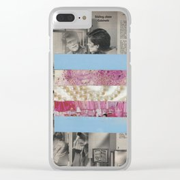 Mirrored Pride - Transgender Flag Collage by Mackenna Morse Clear iPhone Case