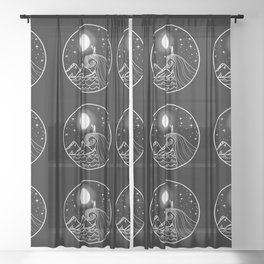 I love you to the moon and back Sheer Curtain